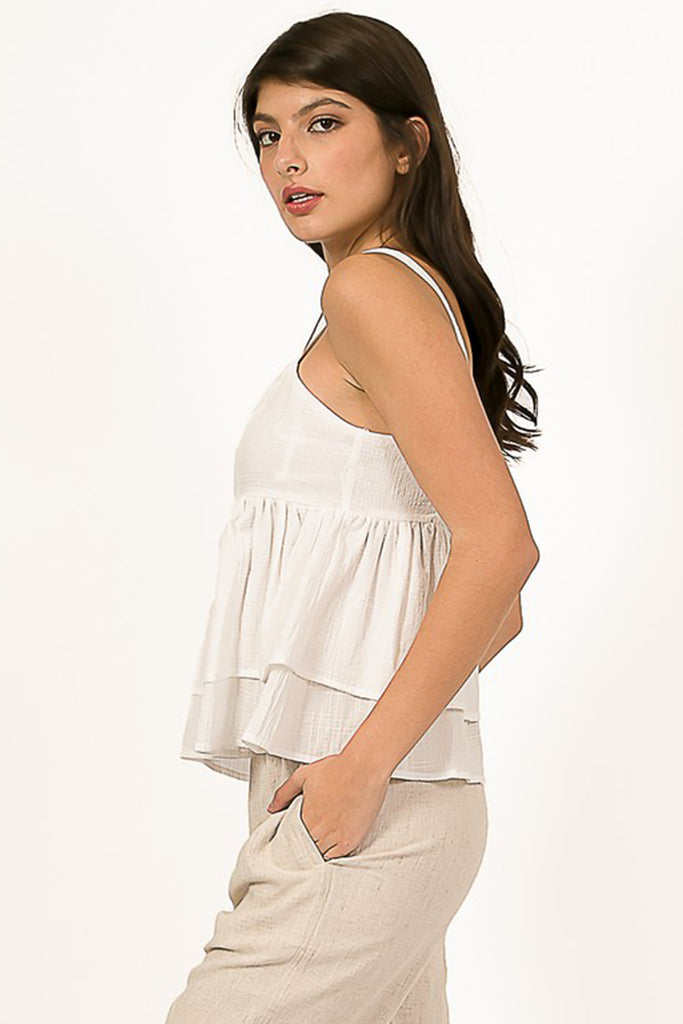Perfect Storm Ruffle Cami Top