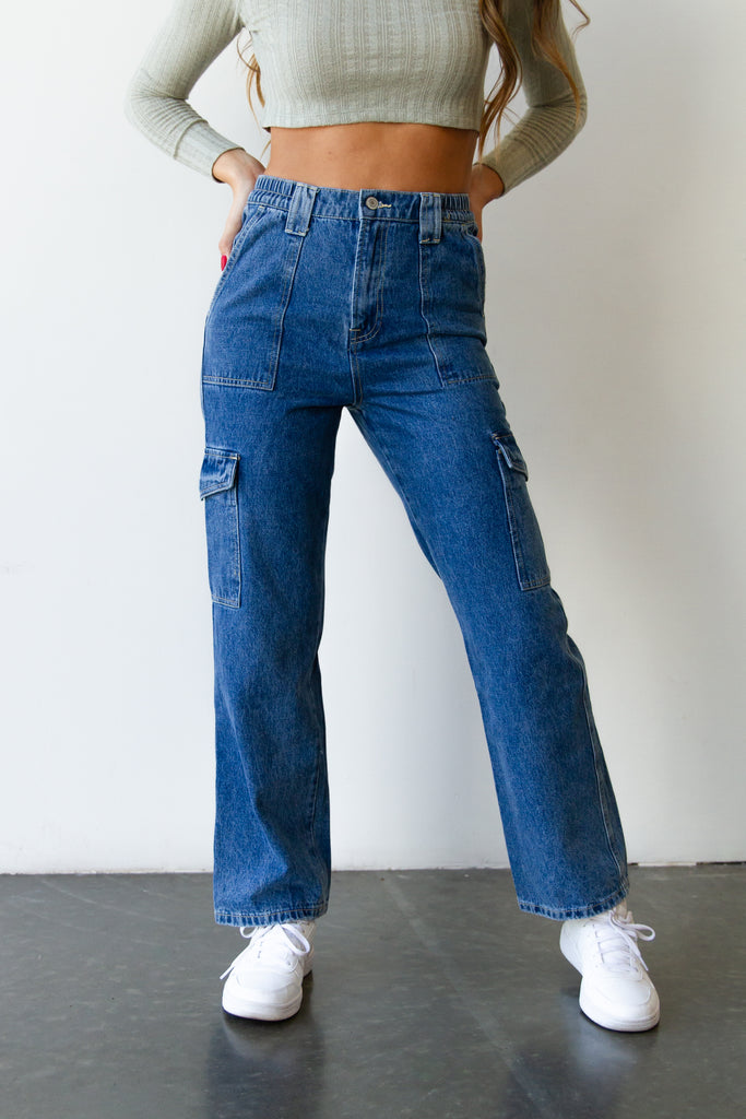 The Hazel Super High Rise Utility Jeans