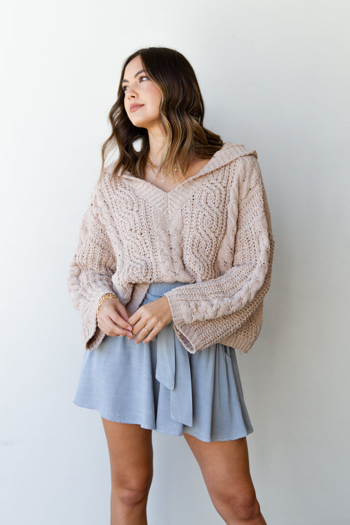 Deep Down Knit Sweater by For Good