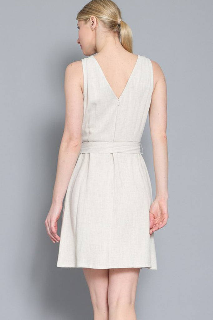 Natural Sleevless Dress