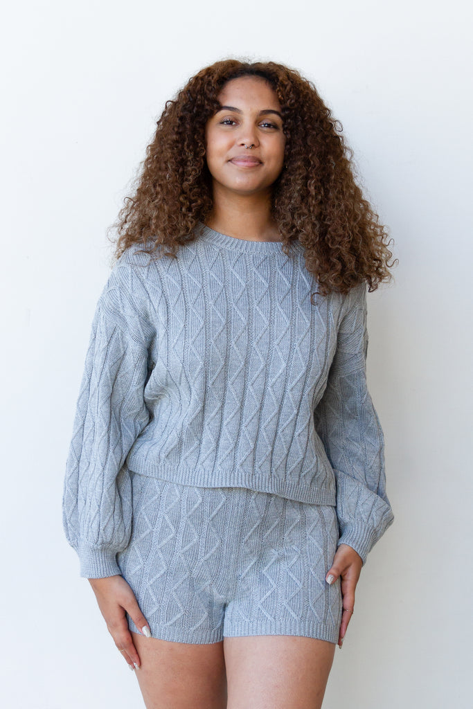 Anything Else Ribbed Sweater