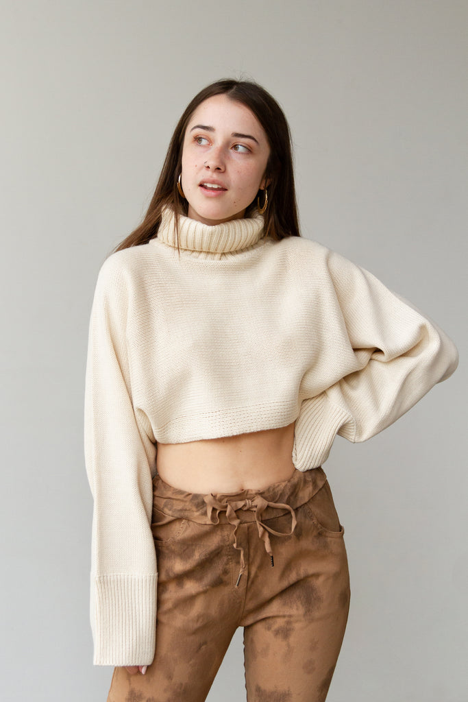 Better Half Cropped Knit Sweater