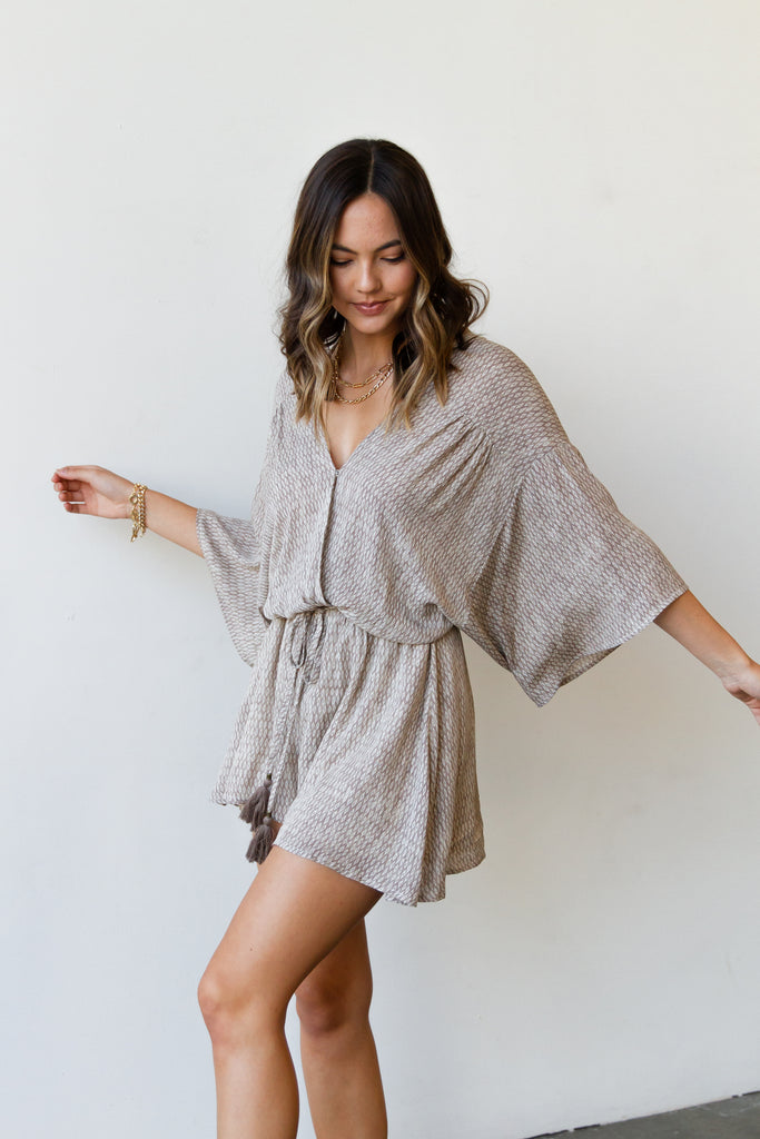 Good Deeds Kimono Romper by For Good