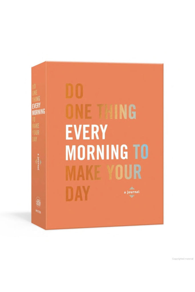 do one thing every morning book