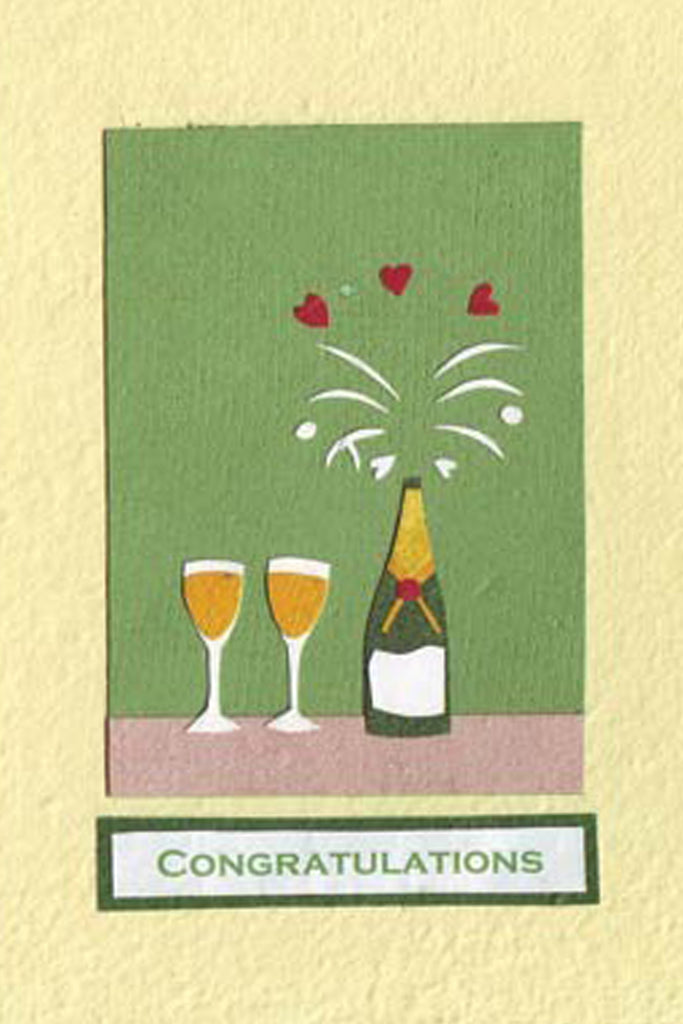 Champagne Toast Greeting Card by For Good