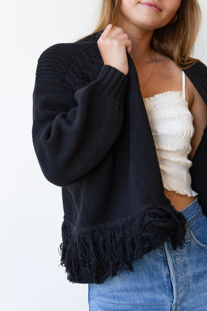 Basket Case Fringed Cardigan