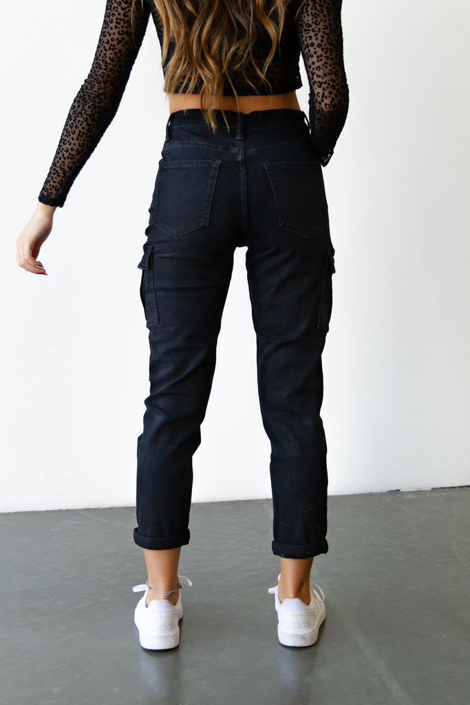 The Lilia Utility Strech Mom Jeans