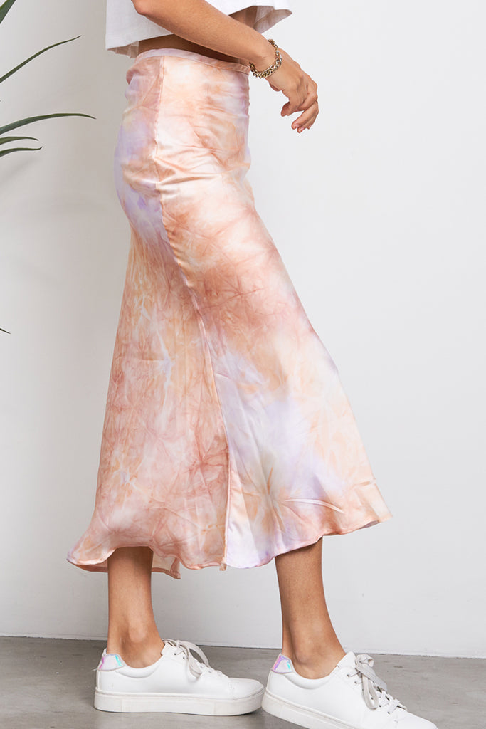 Places We've Been Tie-Dye Midi Skirt