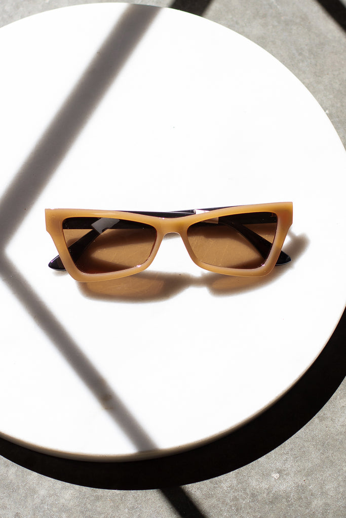 Beige Cat Eye Sunglasses