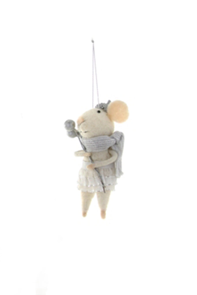 Wintertime Mouse Ornament by For Good