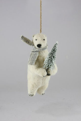 Polar Bear Ornament by For Good