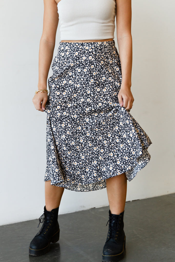 By Surprise Floral Skirt by For Good