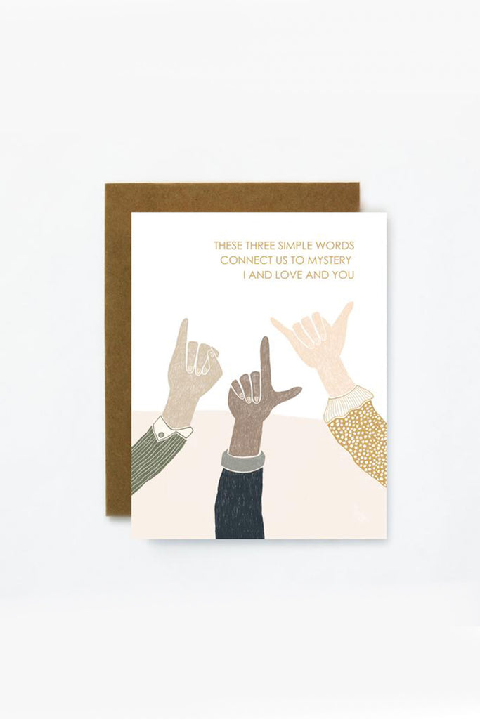 Sign Language Greeting Card by For Good