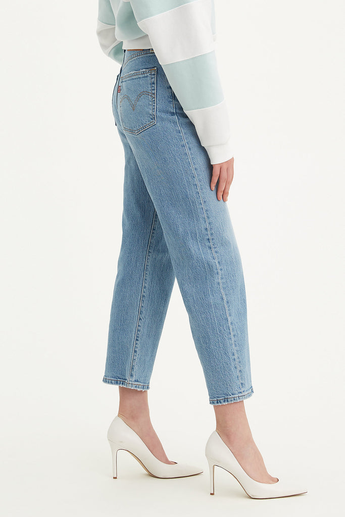 Ribcage Straight Ankle Jeans by Levi's