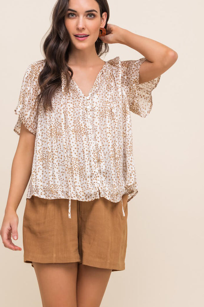 Best For You Printed Top by For Good