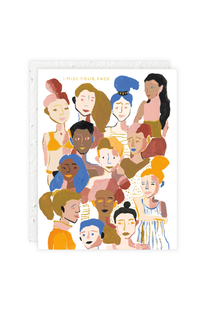 Faces Greeting Card by Seedling