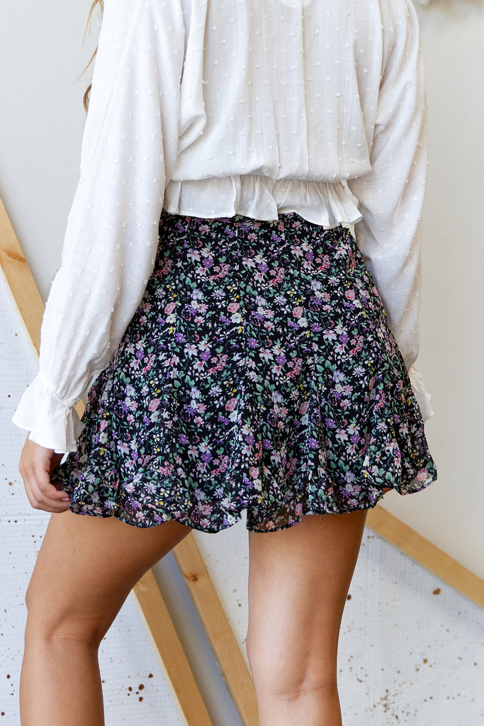 Just My Type Floral Skirt