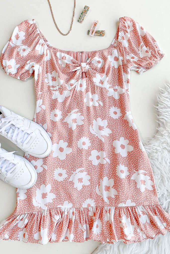 Stay Here Floral Dress