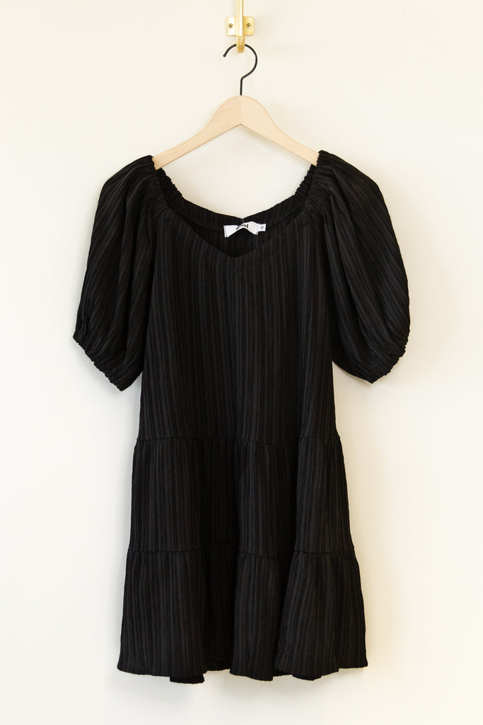 Wild World Short Puff Sleeve Dress by For Good