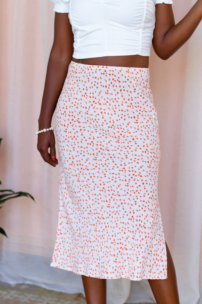 Pretty Girls Floral Midi Skirt