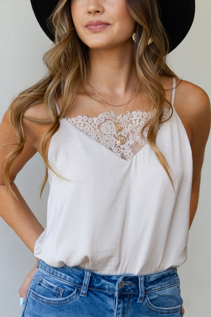 ivory lace cami boydsuit