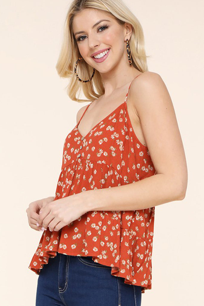 Love is Crazy Floral Cami Top