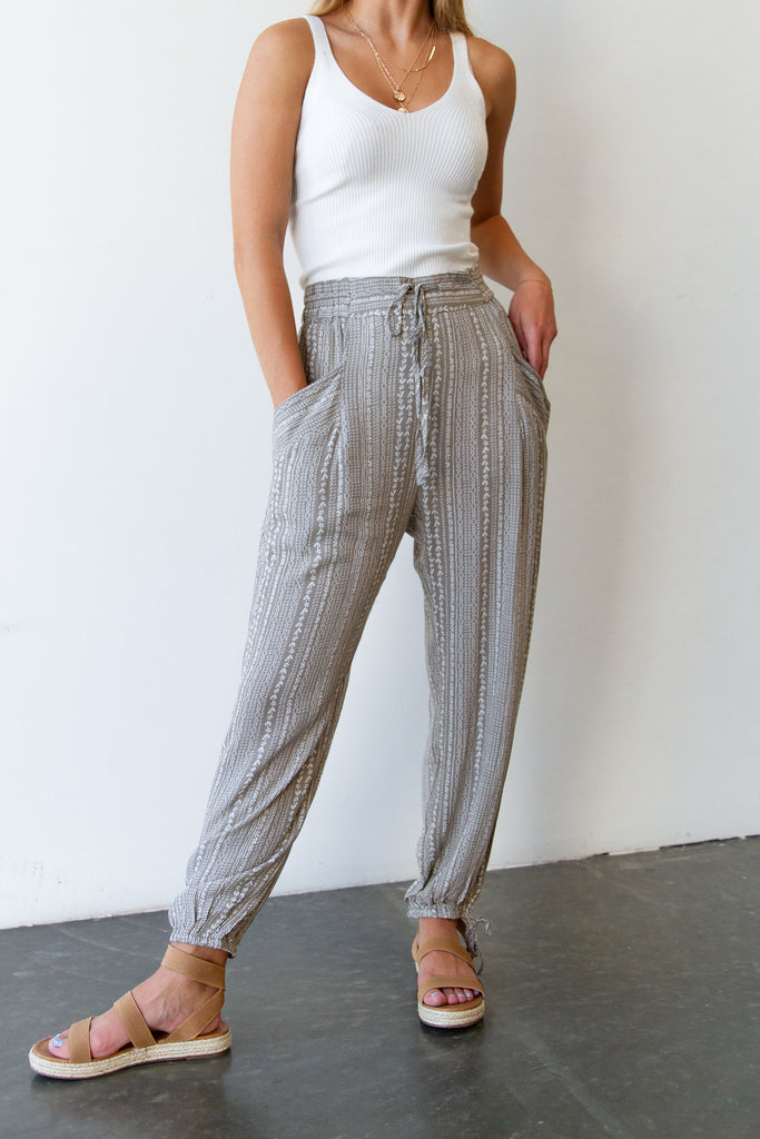 Hard Rock Striped Pants By For Good