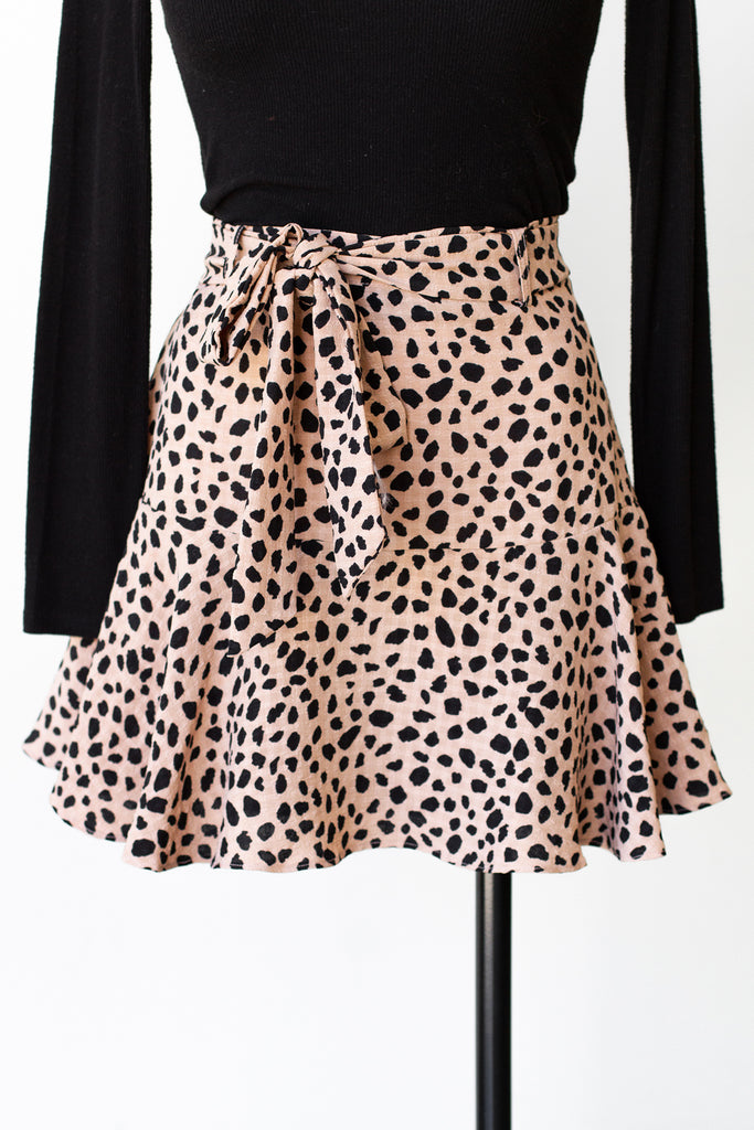 Where It's At Animal Print Skirt
