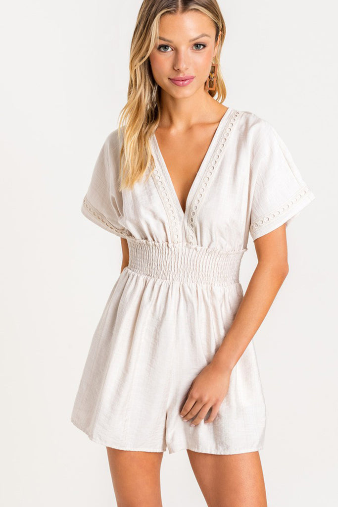 Act Natural Short Sleeve Romper