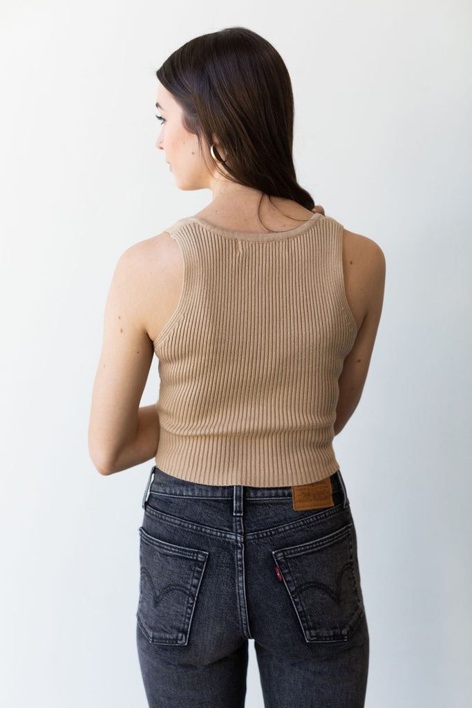 Wild Card Ribbed Crop Top