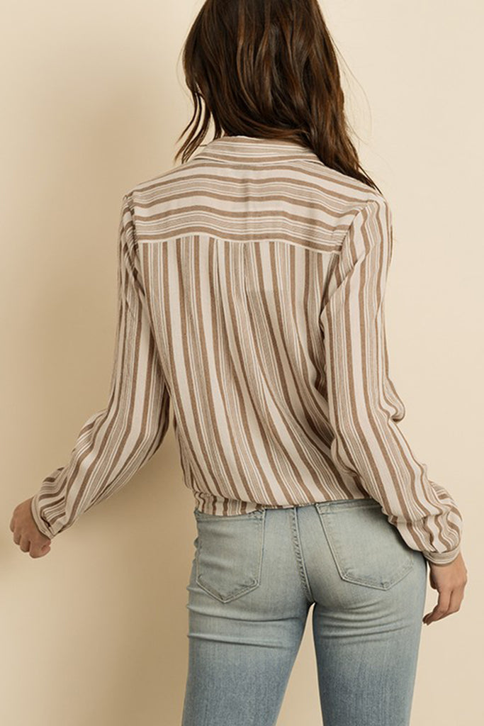 Kiss The Sun Striped Top by For Good