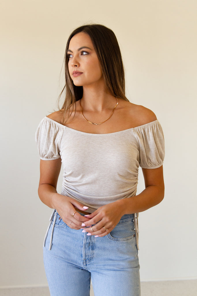 Chosen One Ruched Top By For Good