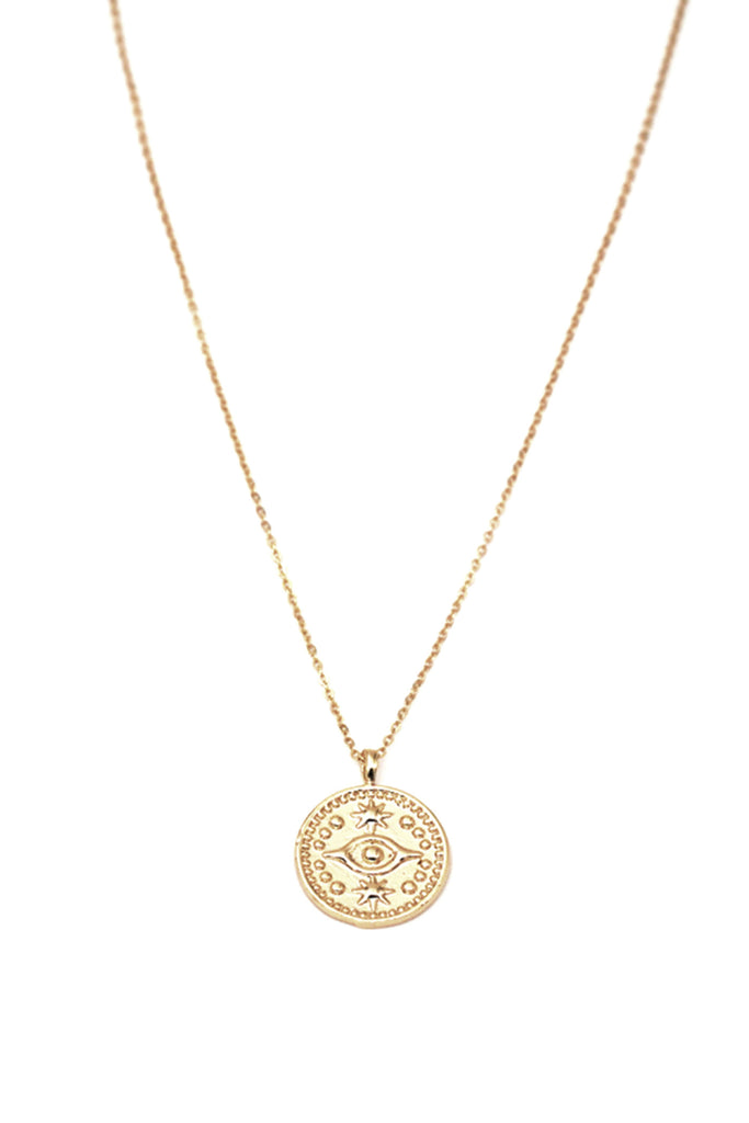 Evil Eye Coin Necklace by May Martin