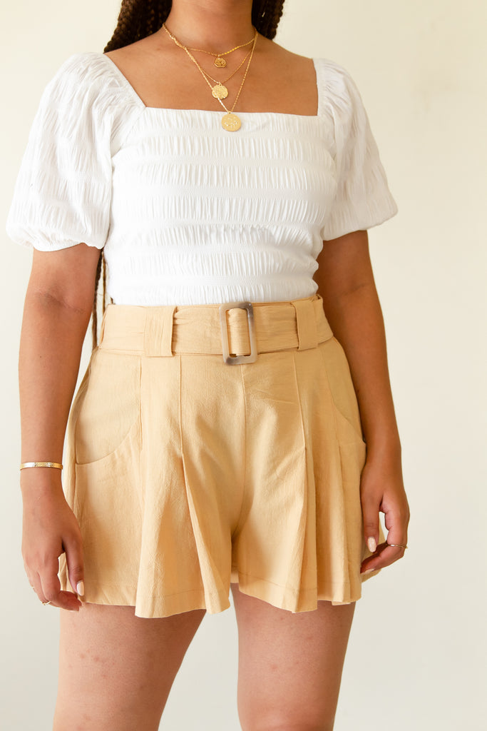 Lost Hope Pleated Shorts by For Good