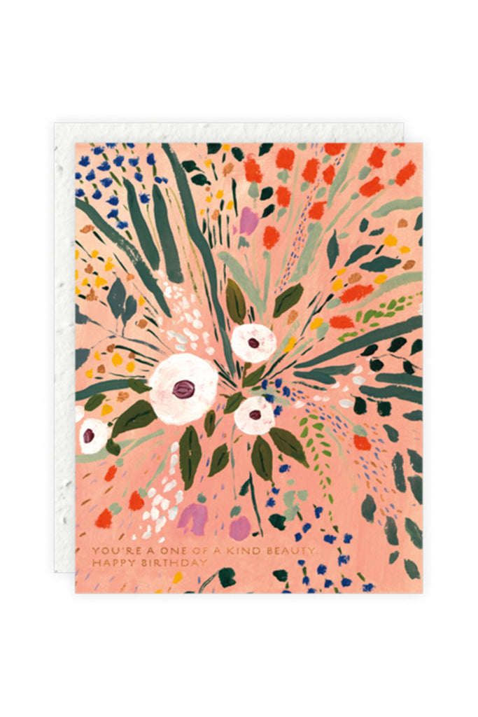 Bursting Flowers Birthday Card by Seedlings