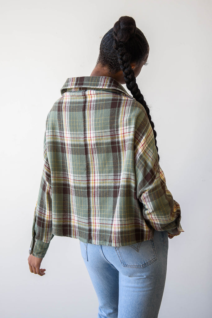 Every Night Plaid Top By For Good