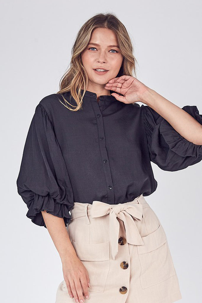 The Afterglow Button Top by For Good