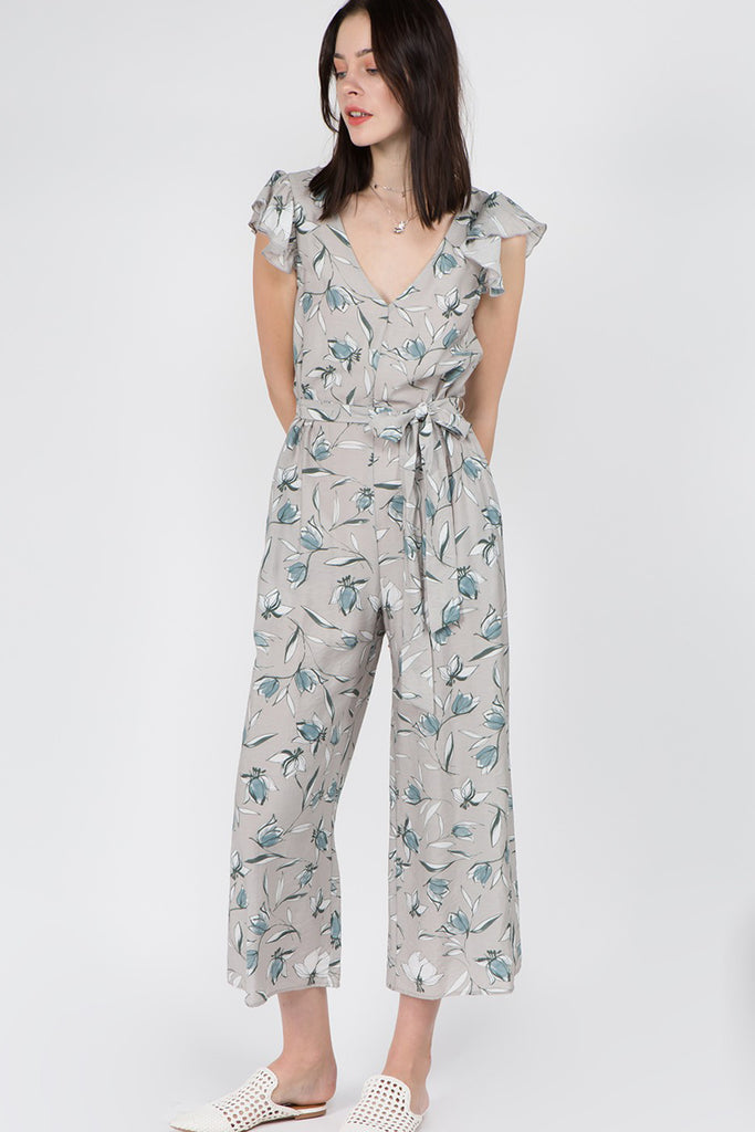 To The Top Floral Jumpsuit by For Good