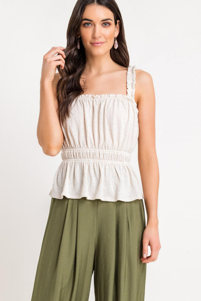 Graceful Ways Shirred Tank Top