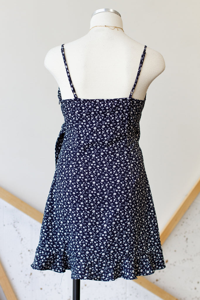 Navy Floral Cami Dress
