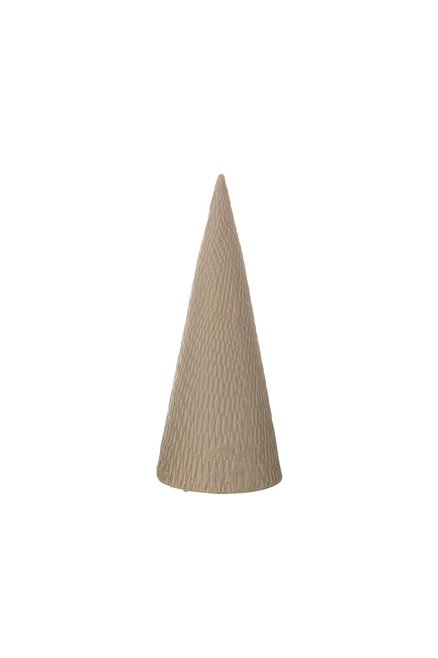 Medium Taupe Stoneware Christmas Tree by For Good