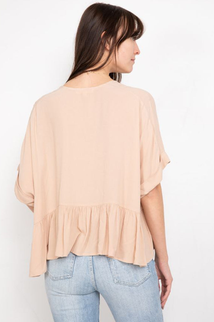 Close to Home Short Sleeve Top by For Good