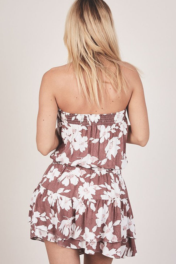 Press My Luck Strapless Dress