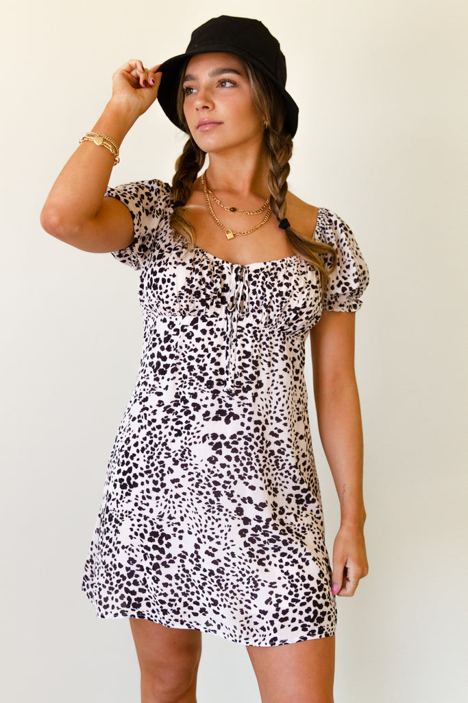 Better Off Animal Print Dress by For Good