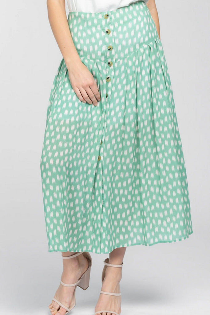 Green High Waisted Skirt