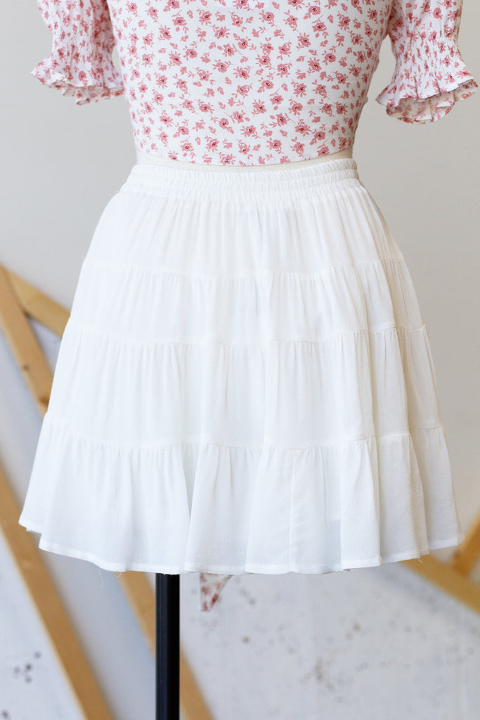 How About Now Ruffle Skirt