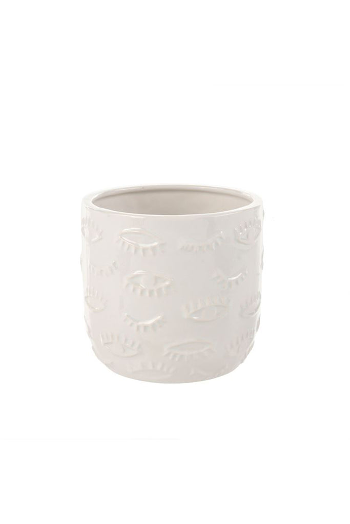 Eyes For You Planter by For Good (White/Large)