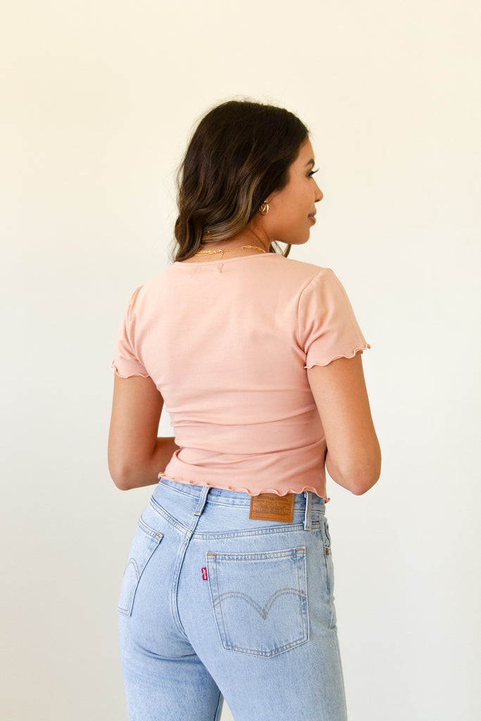 Secret Stars Ruched Crop Top by For Good