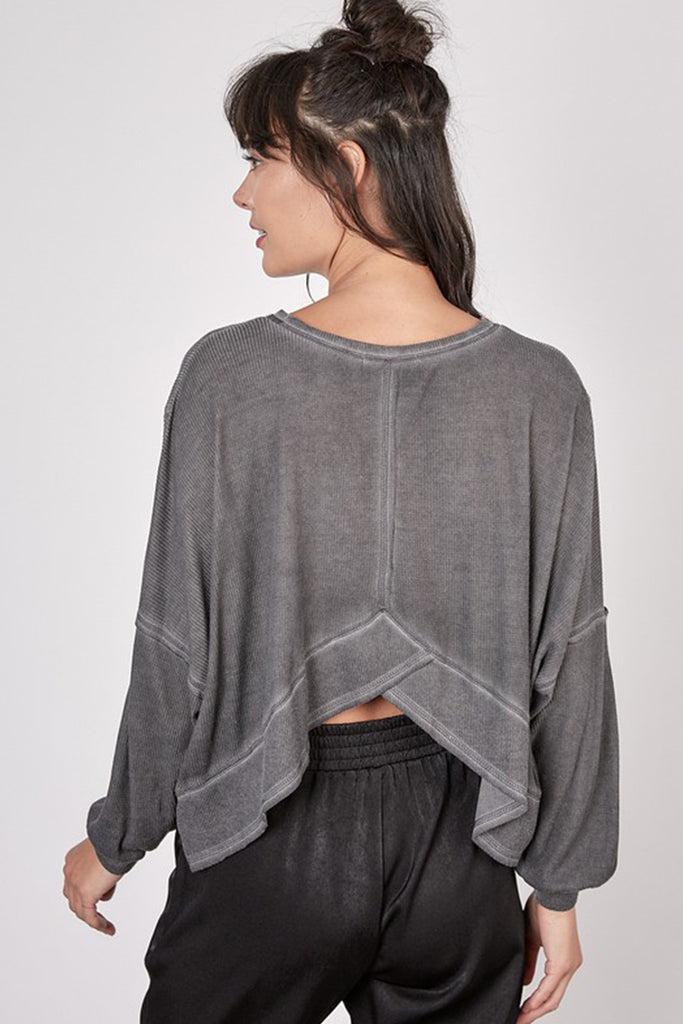 black open back sweater