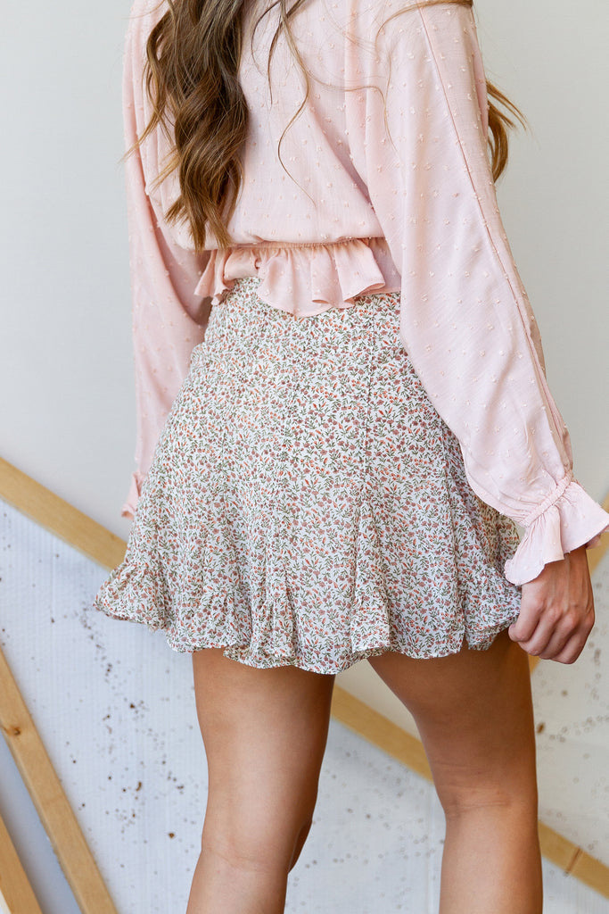 What Could Happen Floral Skirt